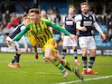 West Bromwich Albion's Dara O'Shea celebrates scoring their second goal on February 9, 2020