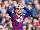 Antoine Griezmann celebrates scoring for Barcelona on February 15, 2020