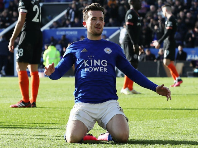 Ben Chilwell in action for Leicester on February 1, 2020