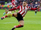 Sheffield United's Billy Sharp shoots on February 9, 2020