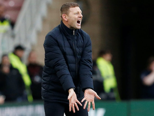 Luton boss Graeme Jones on February 15, 2020