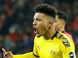 Borussia Dortmund winger Jadon Sancho pictured in February 2020