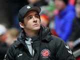 Fleetwood Town manager Joey Barton pictured in January 2020