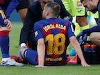 Jordi Alba returns to Barcelona training