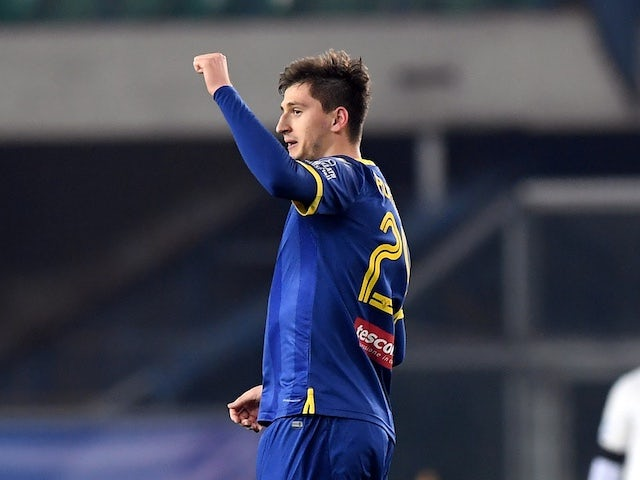 Marash Kumbulla pictured for Hellas Verona in February 2020