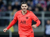 Mauro Icardi in action for PSG on February 15, 2020