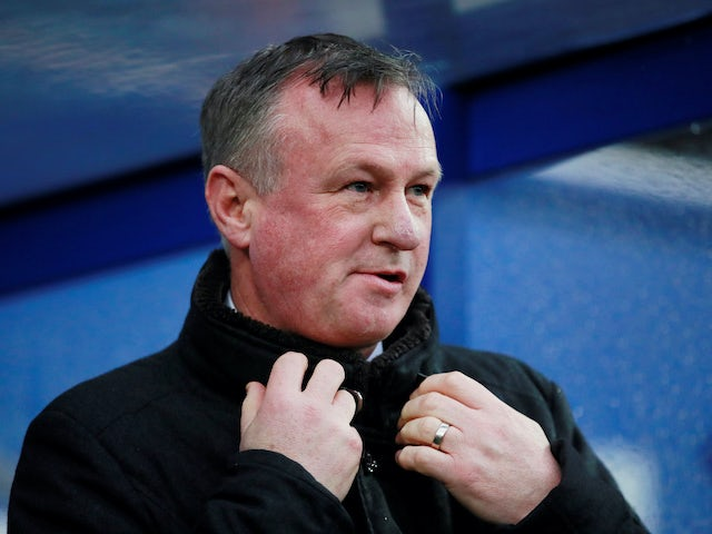 Stoke City boss Michael O'Neill on February 15, 2020