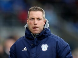 Cardiff manager Neil Harris licks his lips on February 15, 2020