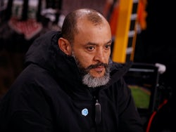 Wolves boss Nuno Espirito Santo on February 14, 2020