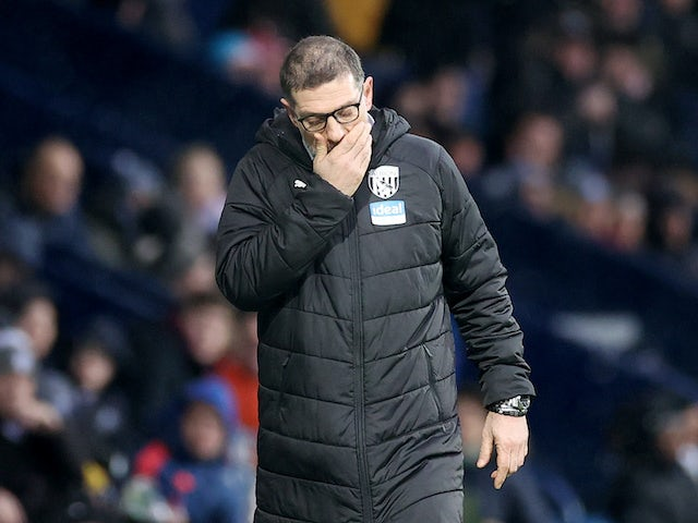 West Brom boss Slaven Bilic on February 15, 2020