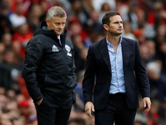 Manchester United manager Ole Gunnar Solskjaer and Chelsea manager Frank Lampard pictured in August 2019