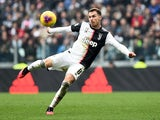 Juventus midfielder Aaron Ramsey in action against Brescia in Serie A on February 16, 2020