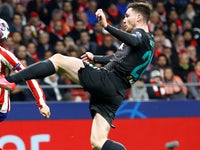 Andrew Robertson in action for Liverpool on February 18, 2020