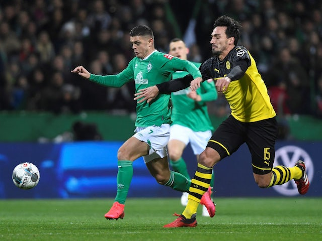 Werder Bremen attacker Milot Rashica in action against Borussia Dortmund on February 4, 2020