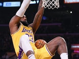 LeBron James in action for the Lakers on February 21, 2020