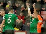 Neal Maupay celebrates equalising for Brighton on February 22, 2020