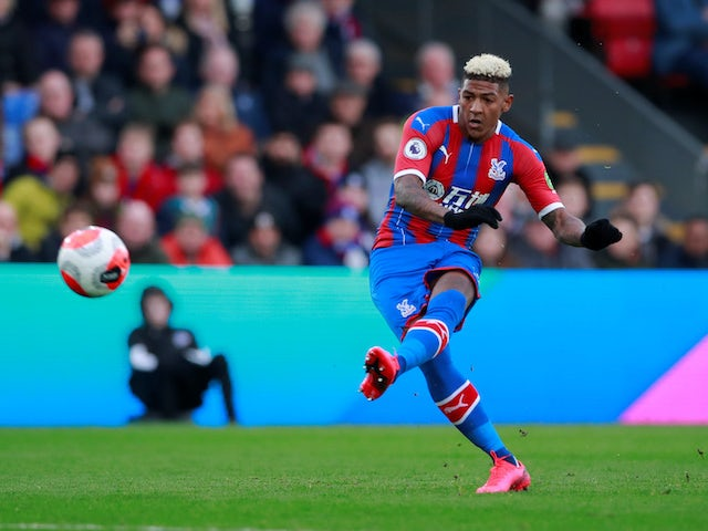 Patrick van Aanholt scores for Palace on February 22, 2020