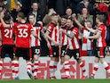 Shane Long celebrates scoring for Southampton on February 22, 2020