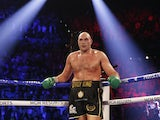 Tyson Fury in action on February 22, 2020