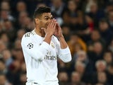 Real Madrid's Casemiro reacts on February 26, 2020
