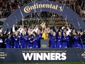 Chelsea Women celebrate after winning the Continental League Cup final against Arsenal Women on February 29, 2020