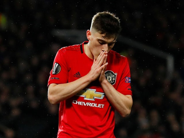 Manchester United's Daniel James reacts on February 27, 2020