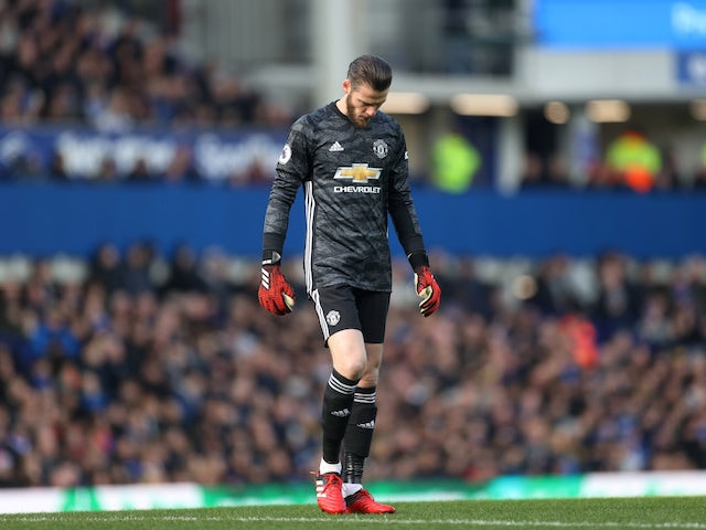 Manchester United's David de Gea pictured on March 1, 2020