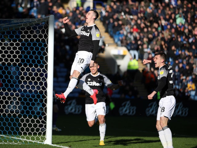 Result: Tom Lawrence bags brace as Derby win at Wednesday