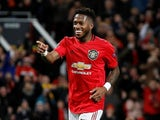 Manchester United's Fred celebrates scoring their fourth goal on February 27, 2020