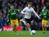 Fulham's Tom Cairney and Preston's Alan Browne in action on February 29, 2020