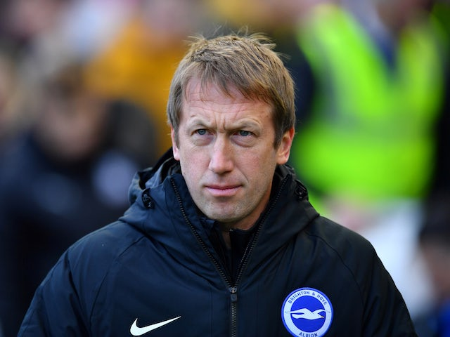Brighton & Hove Albion manager Graham Potter before the match on February 29, 2020