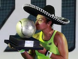Heather Watson celebrates winning the Mexican Open on February 29, 2020