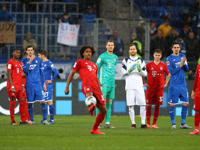 Bayern Munich and Hoffenheim players stop playing due to abusive chants from fans