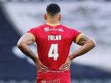 A picture of Israel Folau taken from behind on March 1, 2020