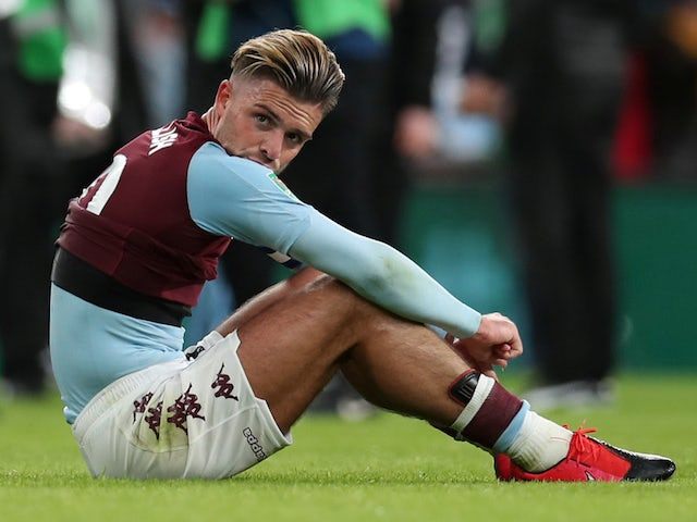 Aston Villa's Jack Grealish looks dejected after the match on March 1, 2020