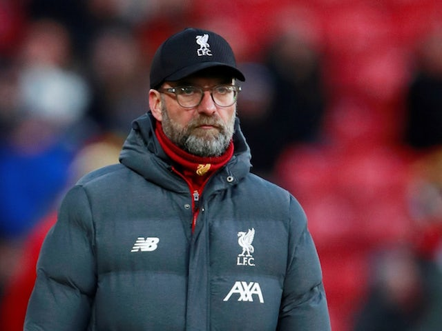 Liverpool manager Jurgen Klopp pictured on February 29, 2020