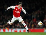 Arsenal's Mesut Ozil in action on February 27, 2020