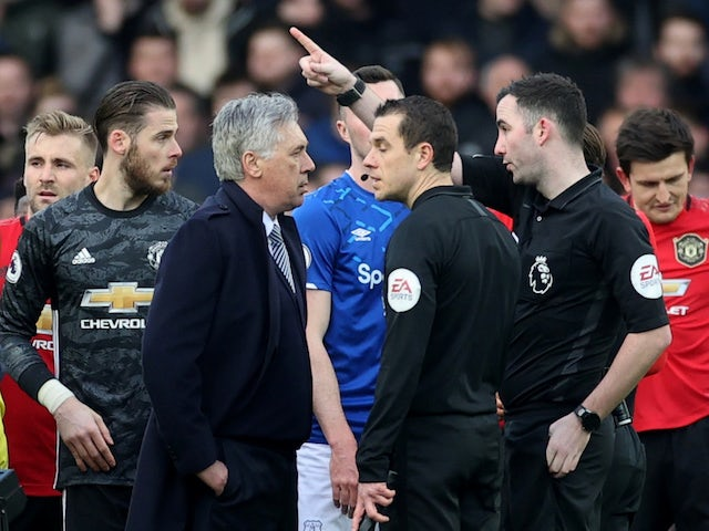 Carlo Ancelotti escapes touchline ban for confronting referee Chris Kavanagh