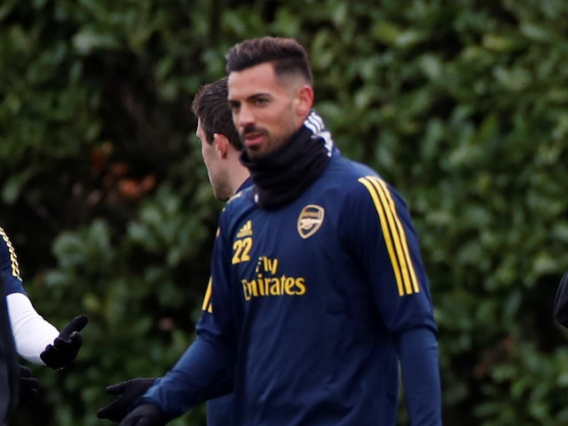 Pablo Mari in training for Arsenal in February 2020