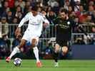 Real Madrid's Raphael Varane in action with Manchester City's Bernardo Silva on February 26, 2020