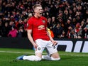 Manchester United's Scott McTominay celebrates scoring their third goal on February 27, 2020