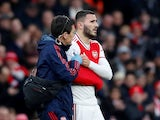 Arsenal's Sead Kolasinac is substituted off after sustaining an injury on February 23, 2020