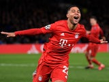 Bayern Munich's Serge Gnabry celebrates scoring their second goal on February 25, 2020