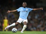 Shaun Wright-Phillips pictured during Vincent Kompany's Manchester City testimonial in September 2019