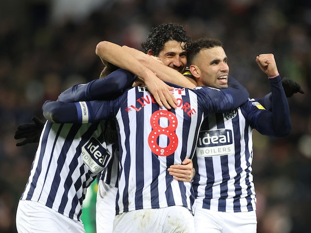 Result: West Brom move seven points clear with win over Preston