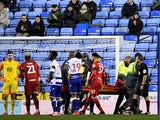 Wigan's Chey Dunkley is injured on February 26, 2020