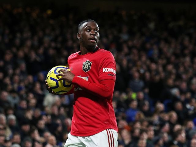Manchester United defender Aaron Wan-Bissaka pictured in February 2020