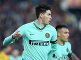 Inter Milan defender Alessandro Bastoni in action in January 2020