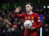Liverpool's Andrew Robertson pictured in Match 2020