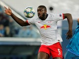 RB Leipzig defender Dayot Upamecano in Champions League action in November 2019